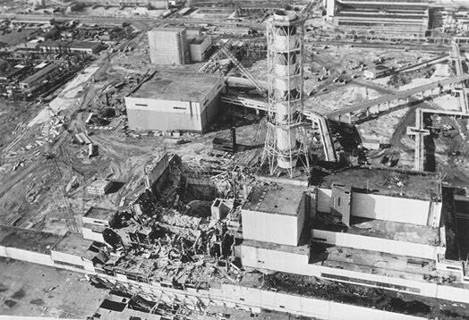 Csernobil lerobbanva